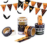 Washi Masking Halloween Tape Set-20 Rolls 32.8 ft Decorative Craft Tape for Scrapbooking DIY Crafts Beautify Bullet Journals or Planners Easily with Colorful Designs and Patterns (Halloween)