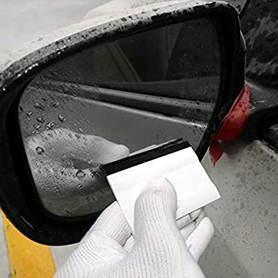 CARTINTS 2PCS 3Inch Mini Block Squeegee Vehicle Rubber Squeegee for Vinyl Wrap Decals Install, Window Tint, Rearview Mirror Clean: Automotive