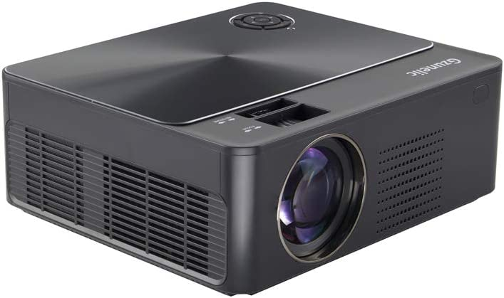 6200 Lumens 1080p Projector, Gzunelic Home Theater Full HD Projector ,80,000 Hours LED Lamp Video Proyector Built in 2 HI-FI Stereo Speakers with 2 HDMI USB AV VGA Audio Connections