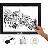 JUNLON A4 LED Light Pad Box Tracing Table Drawing Board Bright Pad for Drawing Artists Tattoo Stencil Artcraft Tracing Animation Extremely Bright Adjustable Brightness Light Tracer
