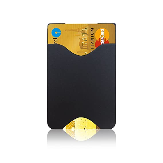 wholesale dealer 4bfc7 612f7 oPesea Slim Design Cell Phone Card Holder(Slim Black),3M Stick on Wallet  Sticky on The Phone/Case Back for iPhone,Samsung,LG,Piexl,HTC,BLU