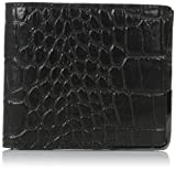 Ted Baker Men's Taigo Croc Bifold Wallet, Black, One Size