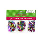 Star-Shaped Craft Sequins 24/Pack (6 Pack)