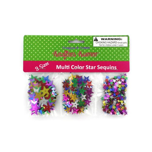 Star-Shaped Craft Sequins 24/Pack (3 Pack) by krafters korner (Image #1)