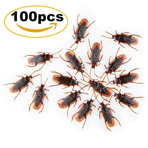 O-Best 100pcs Fake Roach Prank Novelty Cockroach