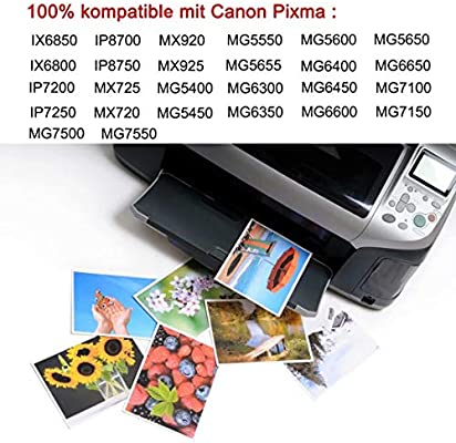 D&C PGI CLI 550/551 - Cartuchos de tinta para Canon Pixma iP7200 ...