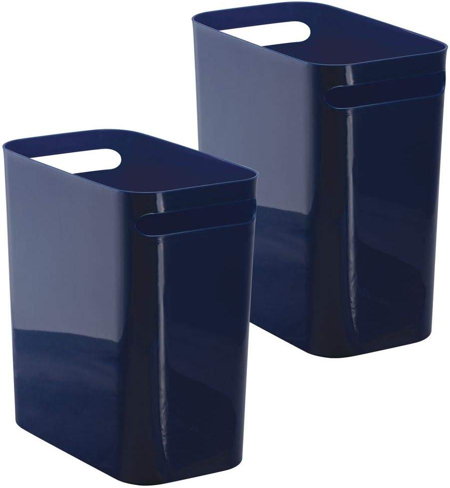 mDesign Una 12インチ ゴミ箱 ブルー 9420MDBST