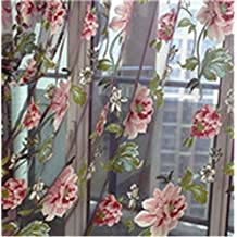 MLZ Classical Classic Flower Curtain Window Screening Customize Finished Products Purple Tulle Curtain
