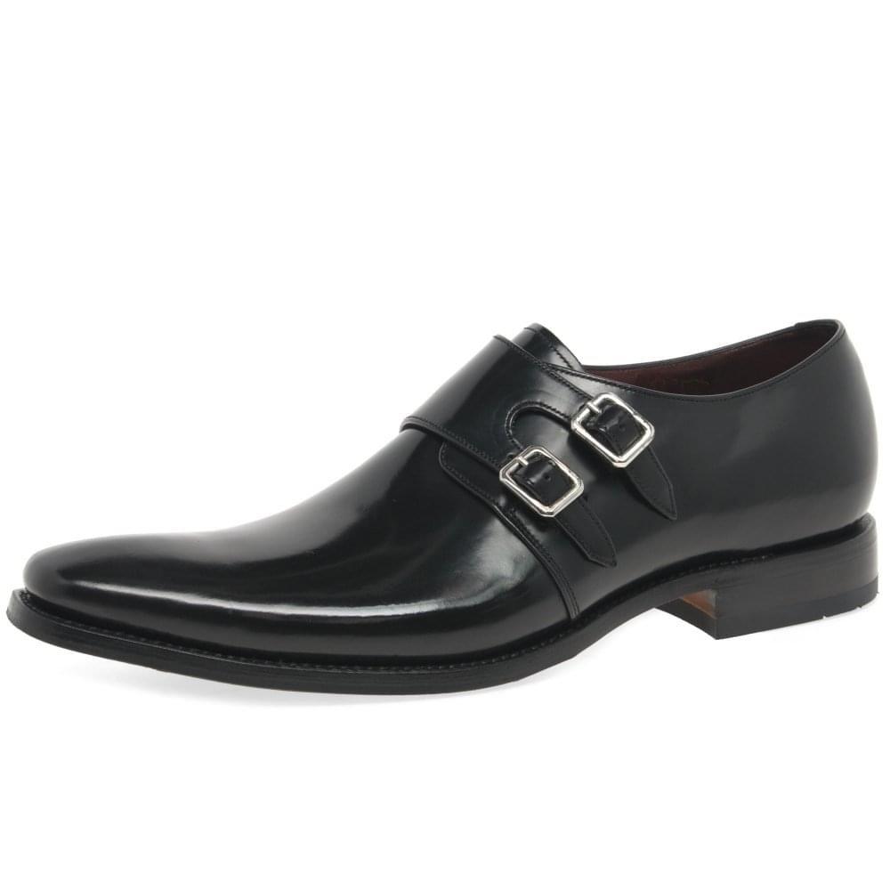 svart Loake Mercer herr Formal Monk Strap skor