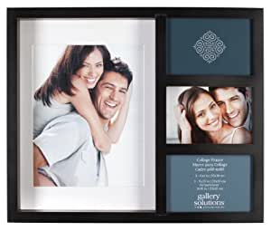 Gallery Solutions Black Recessed Collage Frame with 4 Openings