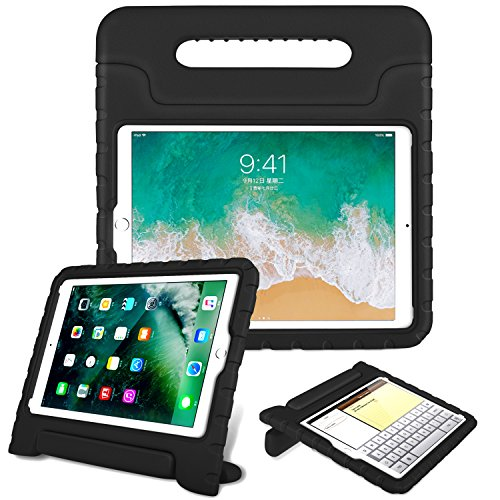 Fintie Case for Apple iPad 9.7 Inch 2018 Model (6th Gen) / iPad 9.7 2017 Model (5th Gen) / iPad Air - Kiddie Series Light Weight Shock Proof Convertible Handle Stand Cover Case Kids Friendly - Black