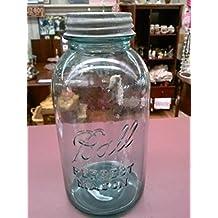 Vintage Ball Blue Half Gallon Perfect Mason Jar with Zinc Lid