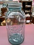 vintage ball jar blue - Vintage Ball Blue Half Gallon Perfect Mason Jar with Zinc Lid