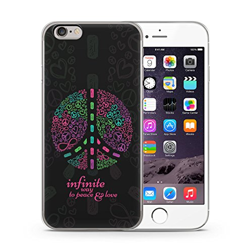 Infinite Way To Peace & Love. iPhone 6 & 6S SLIM Hardcase Hülle Cover Case Schale Vintage Muster Liebe Frieden