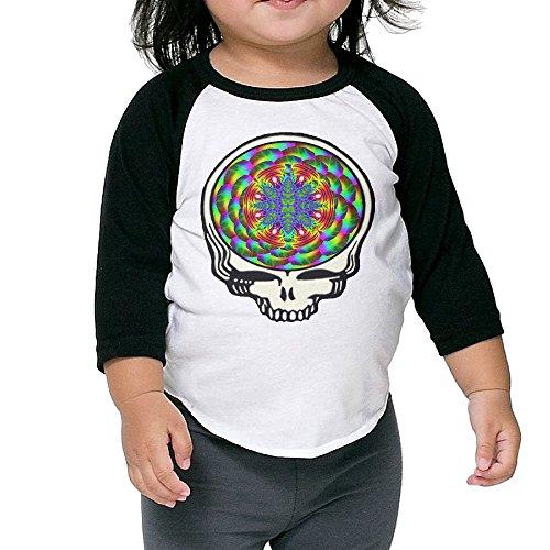 Child 3/4 Sleeve Grateful Dead Color Head Raglan Shirts Vintage Baseball Shirts