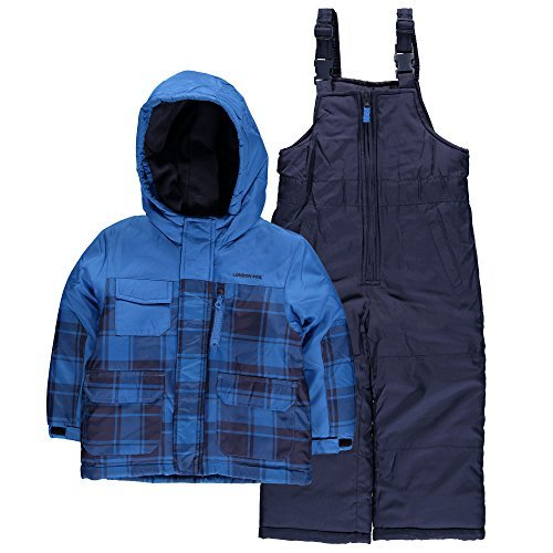 London-Fog-Boys-2-Piece-Plaid-Snowsuit