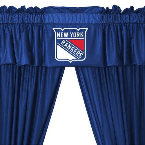 Rangers Valance (NHL New York Rangers 5pc Long Curtains-Drapes Valance Set)