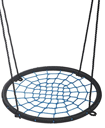 "femor Blue Tree Net Swing- Children's Playground Outdoor 24"" Diameter Spider Web Swing- Easy Installation"