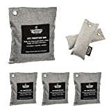 6 Pack - Activated Charcoal Deodorizer Odor Neutralizer Bags Complete Pack - Car Freshener Bags – (1x 500g, 3x 200g & 2x 50g), 100% Natural Chemical-Free, Naturally Activated Bamboo Air Purifying Bag