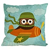 Hot Sale!! Auwer Cute Xmas Christmas Owl Linen Blend Pillow Case Cushion Cover Waist Throw Durable Decorative For Sofa,Bed,Chair,Auto Seat,Home Decor Festival Gift Pillowcase Square 18'' (F)