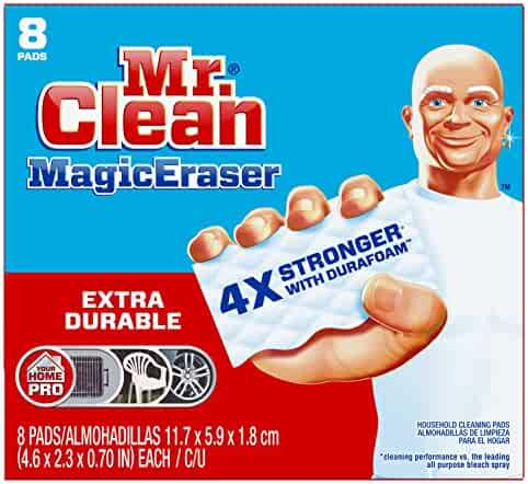 Mr Clean Magic Eraser Extra Durable, Cleaning Pads with Durafoam, 8 Count (Pack of 1) Box (Packaging May Vary)