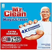 Mr. Clean Magic Eraser Extra Durable, Cleaning Pads with Durafoam, 8 Count Box (Packaging May Vary)