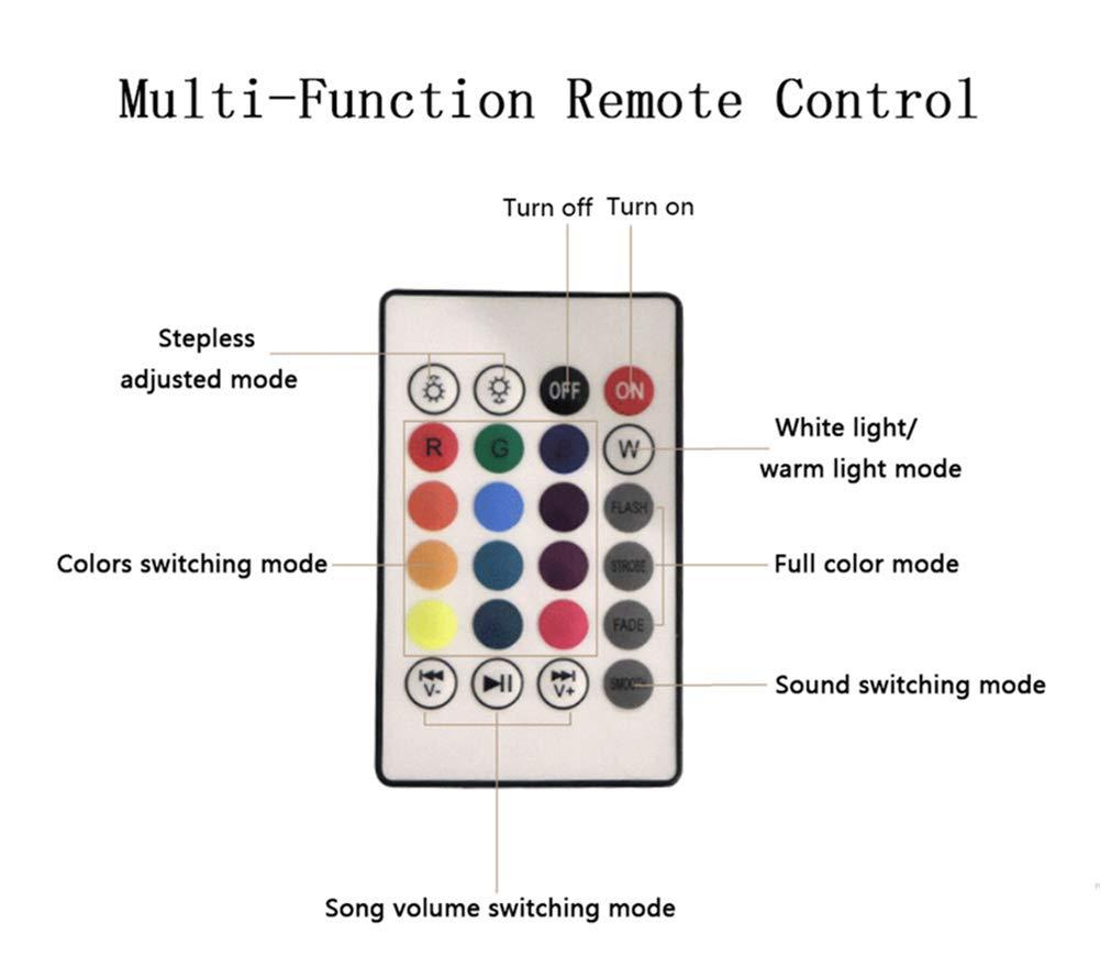 Personifiziertes 16 Nachtlicht-kundenspezifisches Foto-Bluetooth-Musik-Licht der Farben-3D Bestes Geburtstags-Weihnachtsgeschenk Bluetooth mit 16 Farben 9.8in/×6.7in