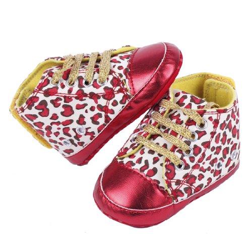 YICHUN - Zapatos primeros pasos para niña dorado - rojo