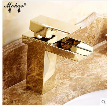 2 LHbox Basin Mixer Tap Samoa deluxe continental antique copper basin cold water tap gold single handle single hole Washbasin Faucet, falls, the atmosphere of a gold nose falls