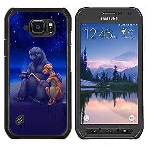LECELL--Funda protectora / Cubierta / Piel For Samsung Galaxy S6Active Active G890A -- Aliens arte del amor lindo Romance Estrellas Universo --