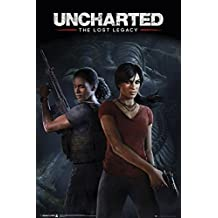 Uncharted The Lost Legacy Poster (61cm x 91,5cm) + 1 pair of black poster hangers