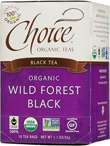 CHOICE TEA TEA BLK WLD FORST, 16 BG, PK- 6