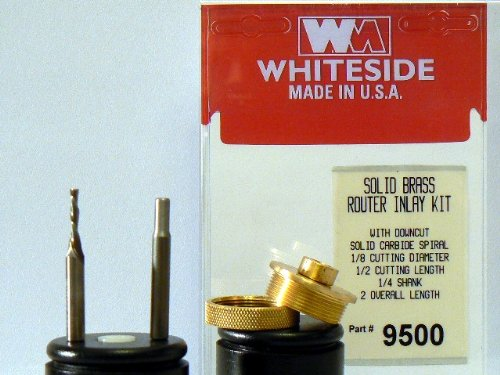 Whiteside Router Bits 9500 Solid Brass Inlay Kit