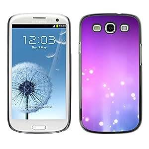 X-ray Impreso colorido protector duro espalda Funda piel de Shell para SAMSUNG Galaxy S3 III / i9300 / i747 - Purple Pink White Bubbles