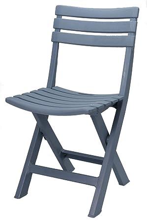 Plastique solide – Couleur – Chaise de jardin bistro Chaise de balcon  Chaise Chaise de camping bleu clair