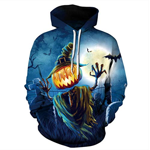 Colmkley Couple Men Women 3D Printing Halloween Hoodies Casual Autumn Sweatshirt by Colmkley Clothing