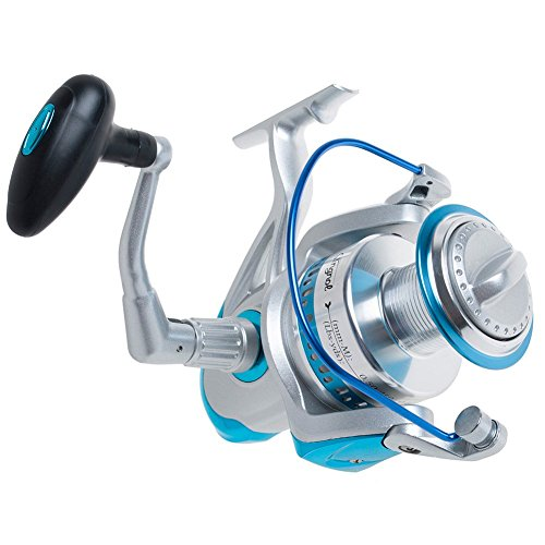 Dr.Fish Spinning Reel Saltwater Super Battler 8000 to 11000 Heavy Duty Surf Fishing Offshore Ultra High Braid Lines Capacity 9+1BB 4.5:1