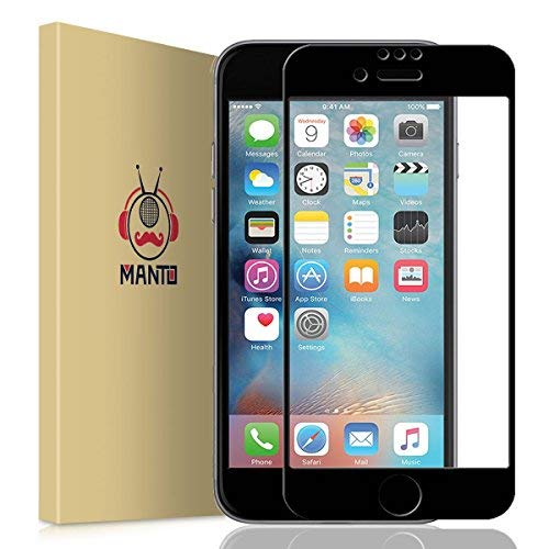 Manto iPhone 7 8 6S 6 Screen Protector, Full Coverage Temper