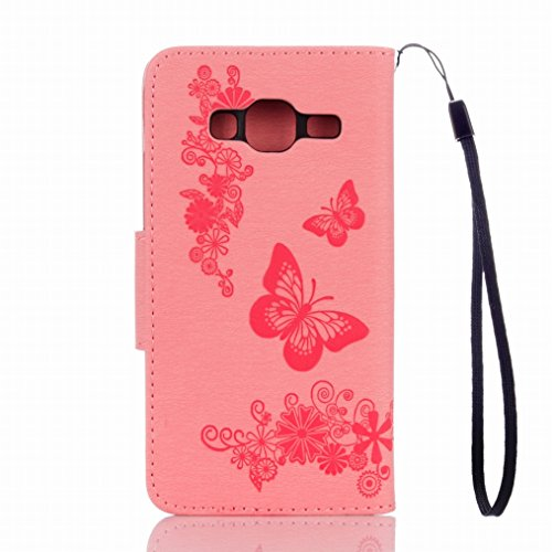 Stand J3 Lucky Card J320F TPU Strap LEMORRY J3 Rose for Fit Pouch Slim Galaxy Cover Galaxy Magnetic Samsung Blue Protection 2016 Flip Slot Bumper Butterfly Leather 2016 Soft Wallet Case aFgZqHa