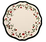 Melange 6-Piece 100% Melamine Salad Plate Set (Holiday Berry Collection ) | Shatter-Proof and Chip-Resistant Melamine Salad Plates