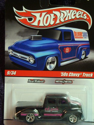 """Hot Wheels Real Riders Series '50s Pick Up Crew Cab Truck """""""