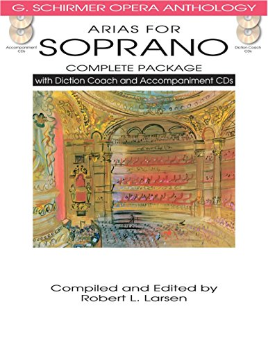 Hal Leonard Arias For Soprano - Complete Package with Book, Diction Coach and Accompaniment CDs (Elle A Fui La Tourterelle Sheet Music)