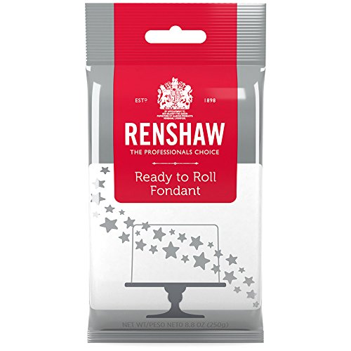 (Ready to Roll Fondant Icing White 8.8 Ounces by Renshaw)