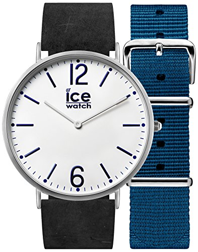 Ice-Watch - City Finsbury - Women's Wristwatch with Leather Strap + Extra Nylon Strap - 001386 (Small) ()