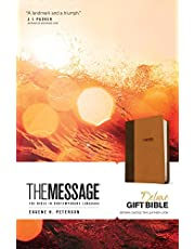 The Message Deluxe Gift Bible (Leather-Look, Brown/Saddle Tan): The Bible in Contemporary Language