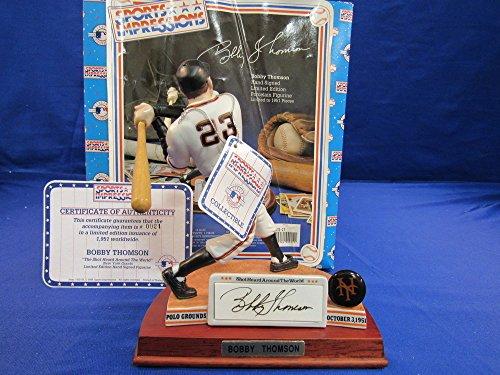sports-impressions-bobby-thomson-signed-auto-autograph-24-1951-figurine-statue-mib