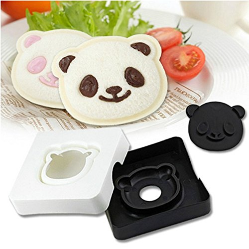 [ Global Group ] Cute Panda Bear Sandwich Pocket Maker Bread Toast Mold Mould Cutter Stamp (Buy A Hoverboard)