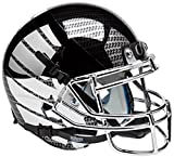 NCAA Oregon Ducks Chrome Wing and Carbon Fiber Replica Helmet, One Size, White