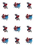 Spiderman Assorted Edible Cupcake Toppers - Set of 12