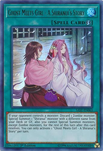 Yu-Gi-Oh! - Ghost Meets Girl - A Shiranui's Story - SAST-EN063 - Savage Strike - First Edition - Ultra Rare -